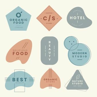 Plantilla de colección de logotipo minimalista con colores pastel.