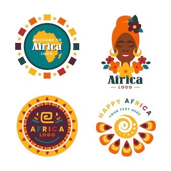 Plantilla de colección de logotipos de áfrica