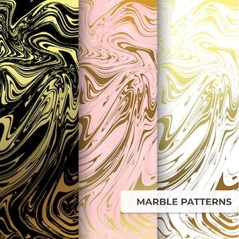 Plantilla de colección de patrones de mármol