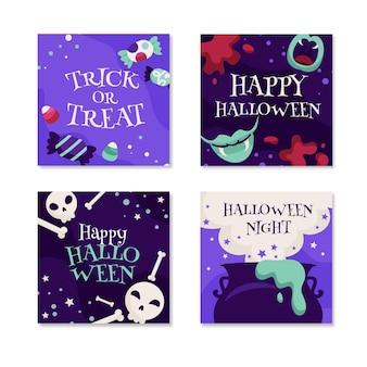 Plantilla de colección de publicaciones de instagram de halloween