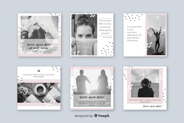 Plantilla de colección de publicaciones de instagram