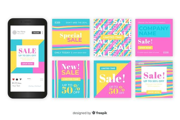 Plantilla de colección de publicaciones de ventas de instagram