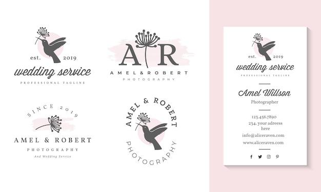 Plantilla de colecciones de logos femeninos.