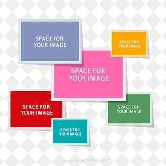 Plantilla de collage de colores