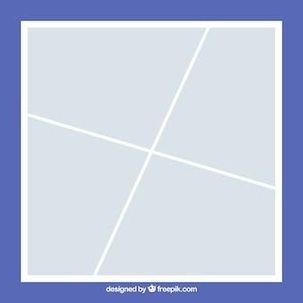 Plantilla de collage de marco de foto blanco