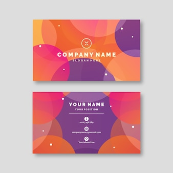Plantilla colorida abstracta de tarjeta de visita