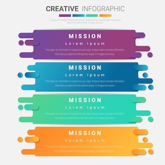 Plantilla colorida para el concepto de negocio