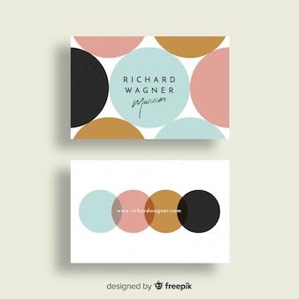 Plantilla colorida de tarjeta de visita con diseño geométrico