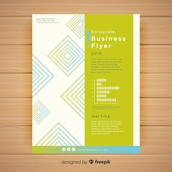 Plantilla colorida de folleto de negocios con formas geométricas