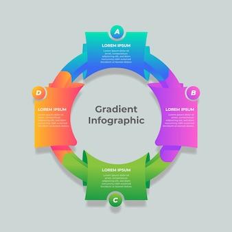 Plantilla colorida gradiente de infografía