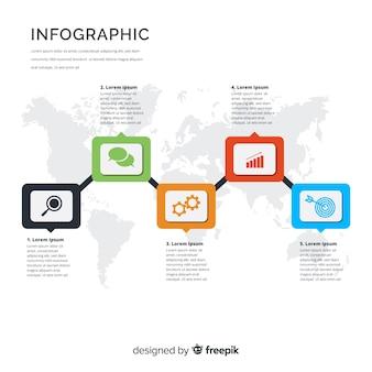 Plantilla colorida de infografía