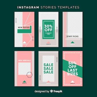 Plantilla colorida de instagram stories