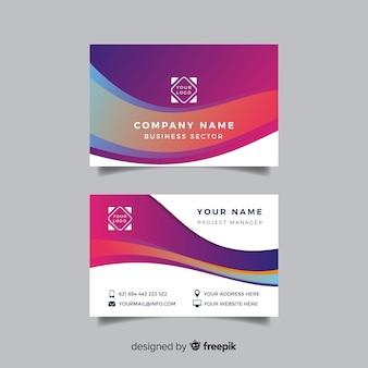 Plantilla colorida tarjeta de visita abstracta