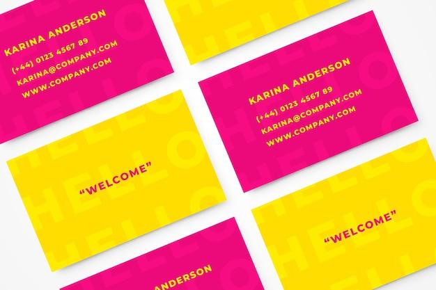 Plantilla colorida tarjeta de visita mínima
