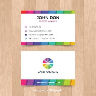 Plantilla colorida de tarjeta de visita