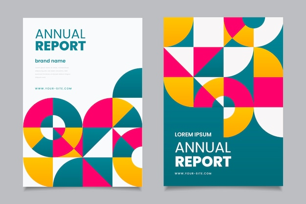 Plantilla comercial para informe anual