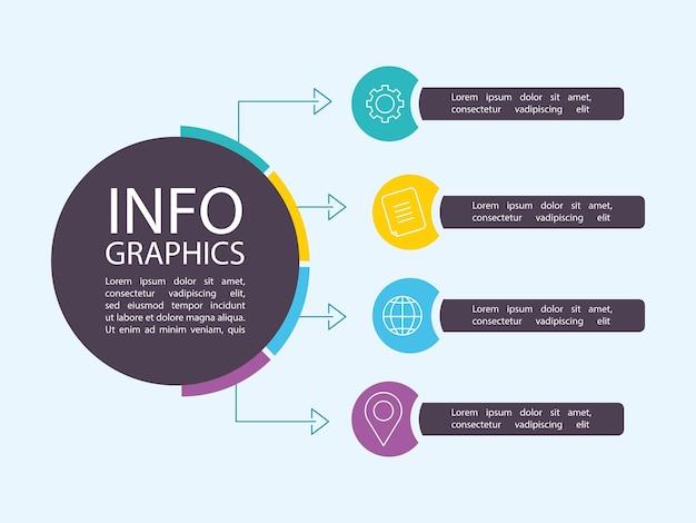 Plantilla de composición de datos de promoción empresarial de infografía