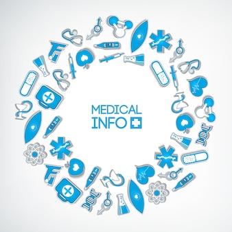 Plantilla de composición redonda médica