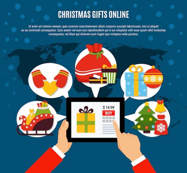 Plantilla de compra de regalos de navidad en línea