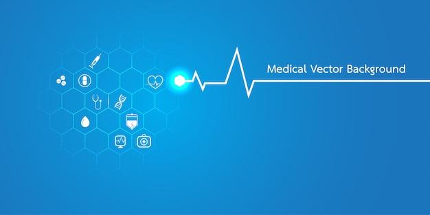 Plantilla de concepto de antecedentes médicos de moléculas abstractas