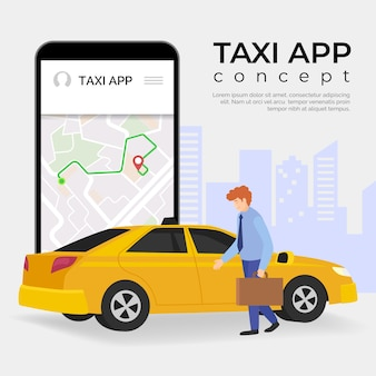 Plantilla de concepto de aplicación de taxi