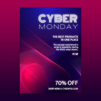 Plantilla de concepto de cyber monday