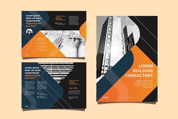 Plantilla de concepto de folleto comercial