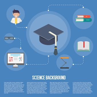 Plantilla de concepto de infografías de educación