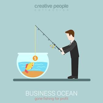 Plantilla de concepto de web de negocios moderno plano