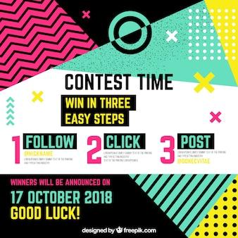 Plantilla de concurso de redes sociales