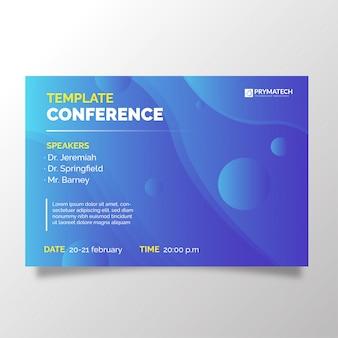 Plantilla de conferencia de negocios moderno con fondo degradado