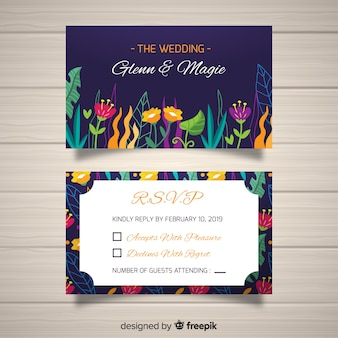 Plantilla de confirmación de asistencia a boda