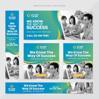 Plantilla de conjunto de anuncios de banner web corporativo