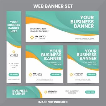 Plantilla de conjunto de anuncios de banner web moderno