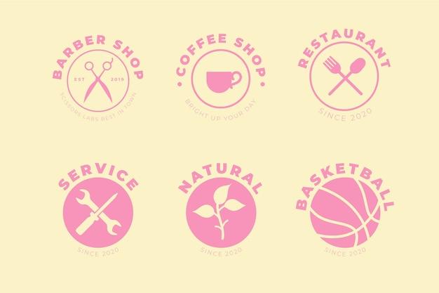 Plantilla de conjunto de elementos de logotipo mínimo