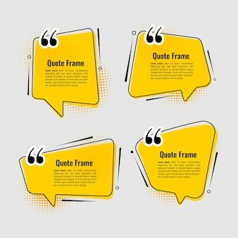 Plantilla de conjunto de marcos de citas modernas.