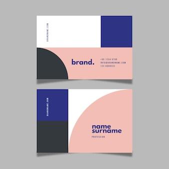 Plantilla de conjunto de tarjeta de visita abstracta