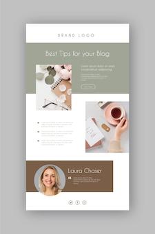 Plantilla de correo electrónico de blogger con fotos