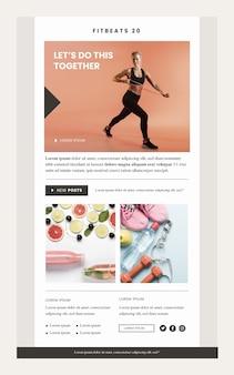 Plantilla de correo electrónico de comunicación de fitness