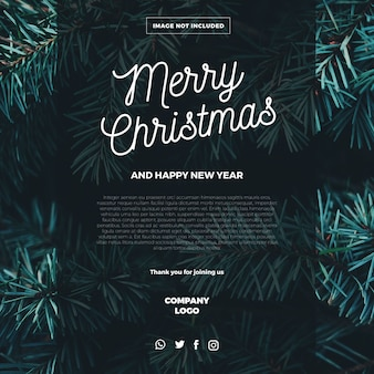 Plantilla de correo electrónico de feliz navidad
