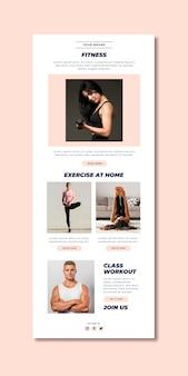 Plantilla de correo electrónico para fitness