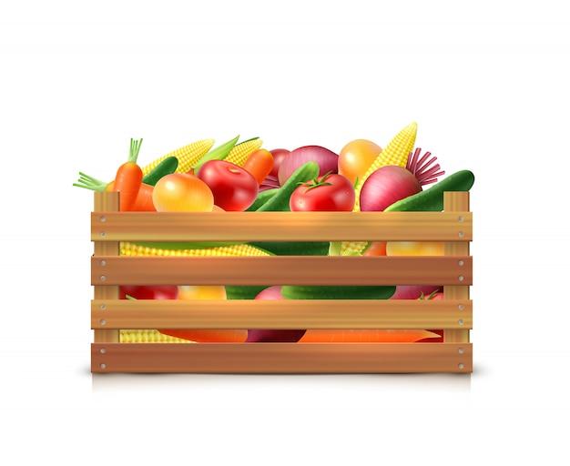 Plantilla de cosecha de verduras