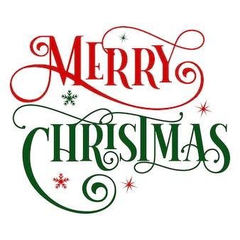 Plantilla de cotización de diseño vectorial premium de tipografía de feliz navidad