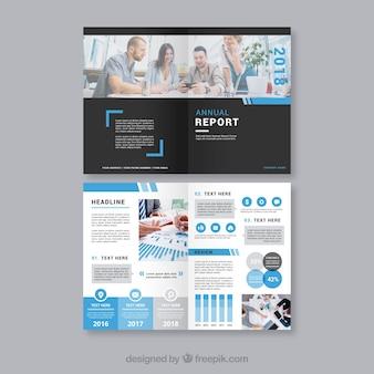 Plantilla de cover moderno de reporte anual