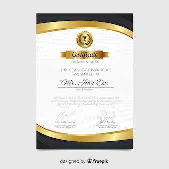 Plantilla creativa de certificado