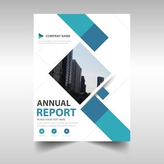 Plantilla creativa de informe anual azul de cubierta de libro