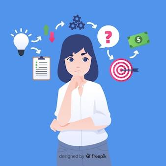 Plantilla creativa de horario de planificación