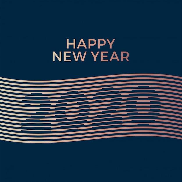 Plantilla creativa de lujo 2020 feliz año nuevo.