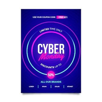 Plantilla creativa de póster de cyber monday