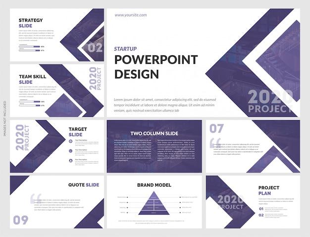 Plantilla creativa de powerpoint para estrategia empresarial